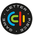 letter piece game logo