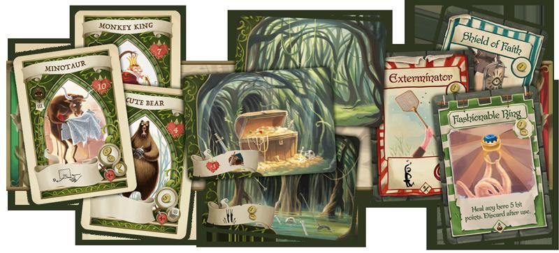 Dungeon Fighter: Das Labyrinth der launischen Lüfte karten