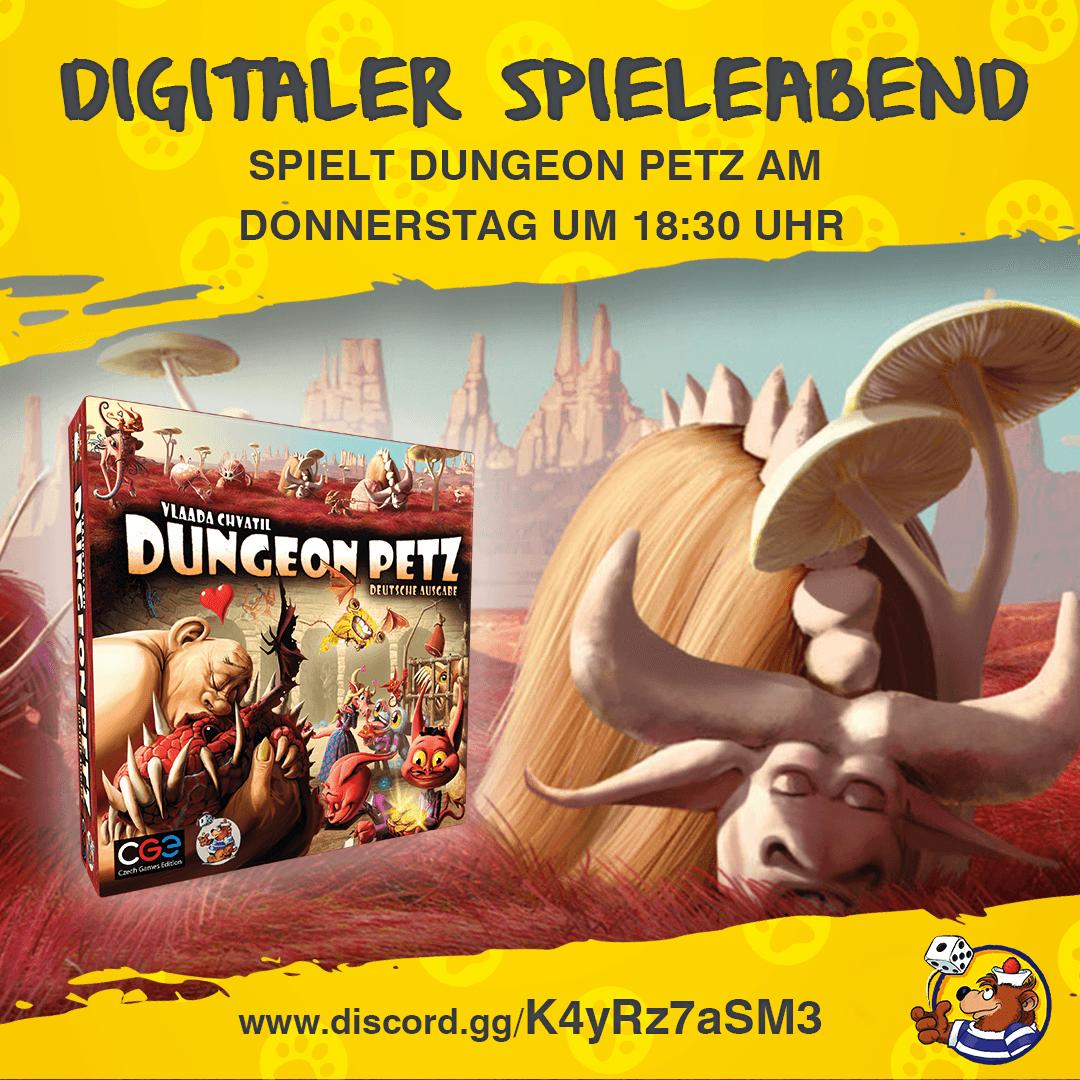 Digitaler Spieleabend Dungeon Petz